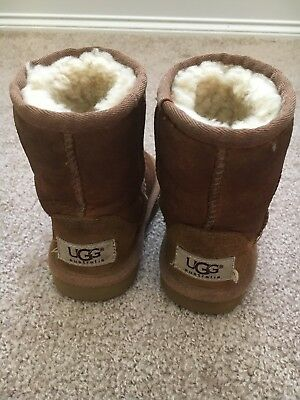 e4c34d34c7 UGG Australia Toddler Kids size 6 Boots Suede Sheep Skin Fur Lined
