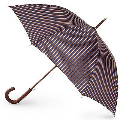 totes Auto Open Wooden Stick Umbrella, Mens Stripe, One Size