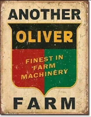 Another Oliver Farm Farming Equipment Logo Distressed  Metal Tin Sign