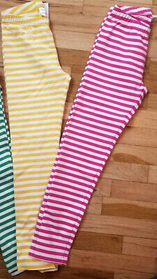 Nwt Hanna Andersson Stripe Leggings Swedish Yellow Play Green Pink 140 Us 10