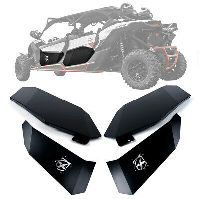 Front & Rear Lower Door Inserts Panels Kit Aluminum for 17-19 Can-Am Maverick X3