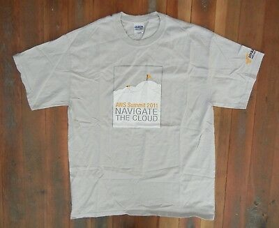 2011 AMAZON WEB SERVICES Prime Cloud Company AWS T-SHIRT Seattle Sz Adult LARGE