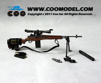 "1:6 Scale US military M14 sniper rifle COO Model for 12"" Action Figure CM-X80015"