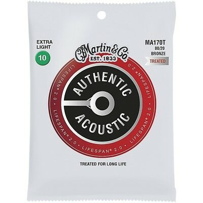 Martin MA170T Lifespan 2.0 80/20 Bronze Extra-Light Acoustic Guitar Strings