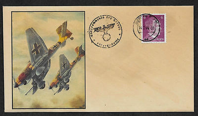 Luftwaffe Collector's Envelope with genuine 1941 Hitler Postage Stamp *599OP