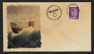 U-Boat Collector's Envelope with genuine 1941 Hitler Postage Stamp *623OP