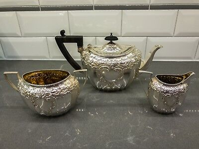 James Dixon & Sons Sterling Tea Set – Sheffield England, Victorian, Gold Wash