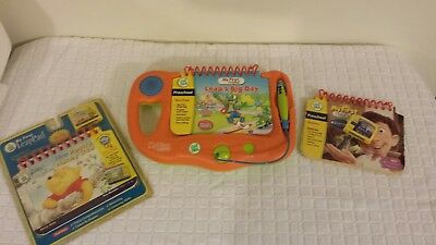LEAP FROG - MY FIRST LEAPPAD  Orange, with 3 books and 2 cartridges.