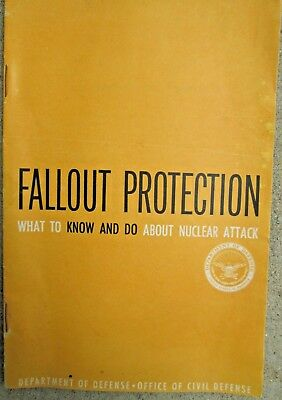 1961 Dept. of Defense Civil Defense Fallout Protection Nuclear Attack Booklet