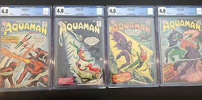 Aquaman Keys all CGC 4.0, 1, 11, 29, 35 First Appearances! Aquaman movie DCU