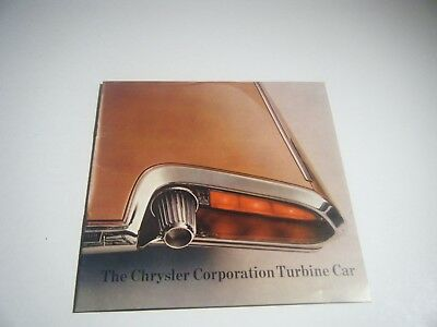Vintage 1964 Chrysler Turbine car Salesman Brochure Booklet Original Catalog