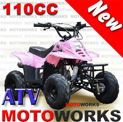 MOTOWORKS 110CC sports ATV QUAD Dirt Pit Bike Gokart 4 Wheeler Buggy kids PINK