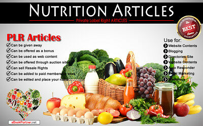 930+ PLR Articles on Nutrition & Supplement Niche Private Label Rights