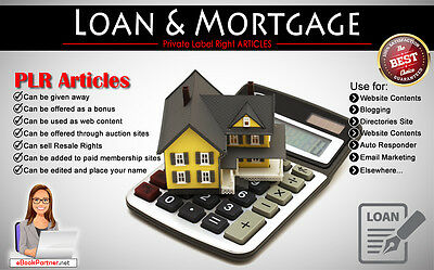 2800+ PLR Articles on Loan and Mortgage Niche Private Label Rights
