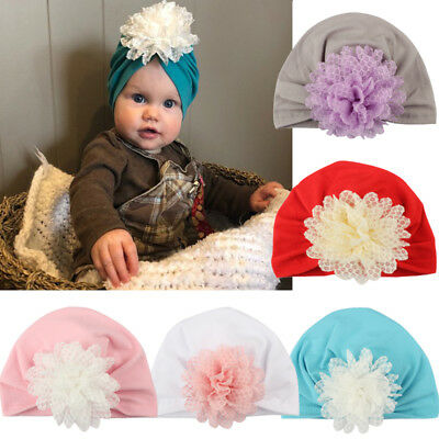 Girl Baby Bow Beanie Cap Toddler Infant Velvet Turban India Hat Hair Accessories
