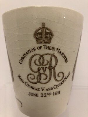 Royal Doulton Rare 1911 Coronation Cup Featuring King George V & Queen Mary