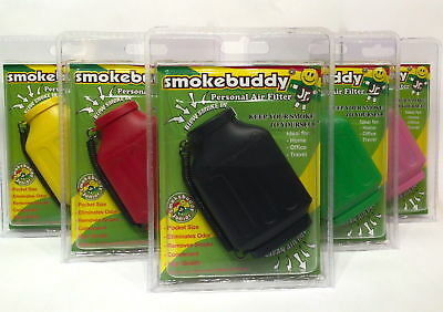 Smoke Buddy Junior Personal Air Smell Scent Odor Purifier Cleaner Choose Colors*