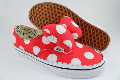 Vans Authentic Gore Disney Minnie s Bow White red Polka Dots Slip-On Women  Sizes 015ee6934