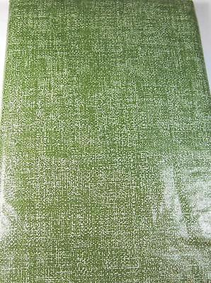 Flannel Back Vinyl Green By Elrene   Assorted Sizes Square, Oblong & Round