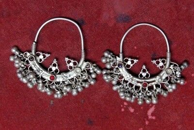 Old Vintage Unique Tribal Silver  Lady / Women, Girl Earring G 92