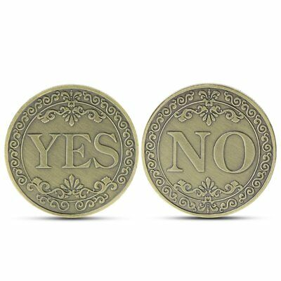 Bronze YES or NO Decision Lucky Coin Good Luck Coins Collection Letter Ornament
