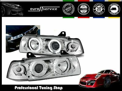 Headlights Lpbm03 Bmw 3 Series E36 Coupe 1990-1996 1997 1998 1999 Angel Eyes Rht