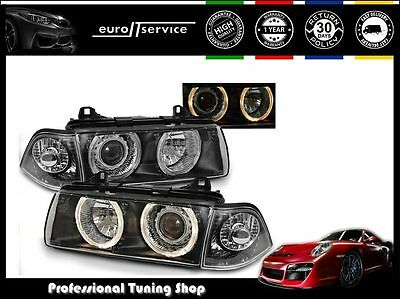 Headlights Lpbm21 Bmw 3 Series E36 1990-1996 1997 1998 1999 Angel Eyes Rhd Lhd