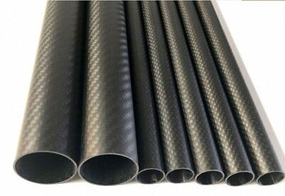 New OD 8 - 52mm 3K Carbon Fiber Tube Roll Wrapped Long 500mm - Select Size