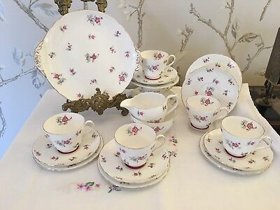 Shelley Teaset 21 Pieces Charm Pattern English Vintage China