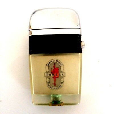 Scripto VU Vintage Lighter Red Knight Powers With Black Band