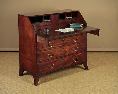 Antique George III Mahogany Writing Bureau c.1790.