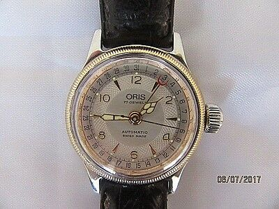Ladies Oris 7464 Pointer Date Big Crown Automatic Wrist Watch been Serviced