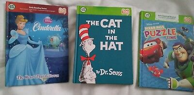 Lot of 3 Leap Frog Tag Reader Hardcover Books 2 Disney & Dr. Seuss