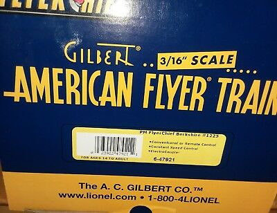 American Flyer PM FlyerChief Berkshire #1225 6-47921, Engine and Tender NEW