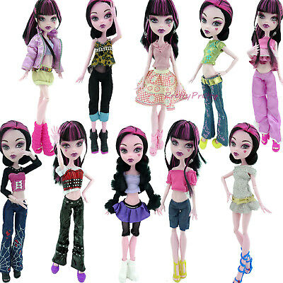 Fashion Dress Outfit Blouse Trousers Random 1 Set Clothes For Monster High Doll