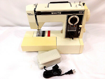 VINTAGE WHITE SEWING Machine Blue Jeans Machine Model 40 Magnificent Jeans Machine White Sewing Machine