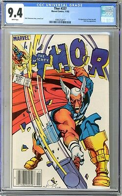 Thor  #337   CGC   9.4   NM   White pages