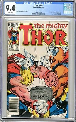 Thor  #338   CGC   9.4   NM   White pages