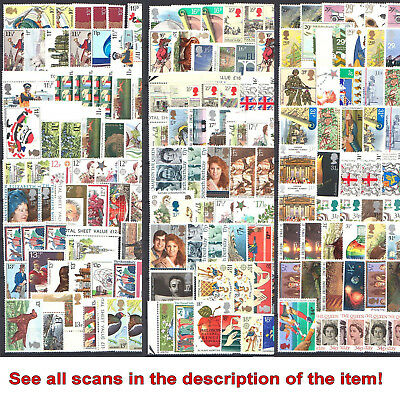 UK: STAMPS FOR POSTAGE - FACE VALUE min. £149 - MINT WITH FULL GUM