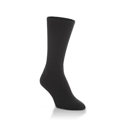 World's Softest Socks Classic Collection Black Large Men / Women Crew Length New