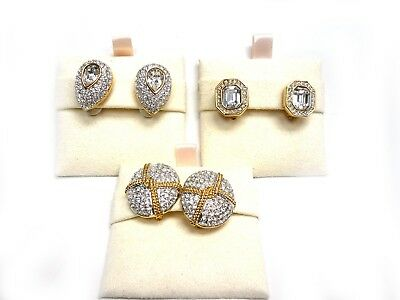 Swarovski Crystal Glamour Pierced Earrings NOS