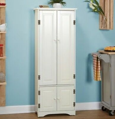 Delicieux White Extra Tall Cabinet Kitchen Cupboard Bathroom Linen Cabinets Cabinetry  NEW