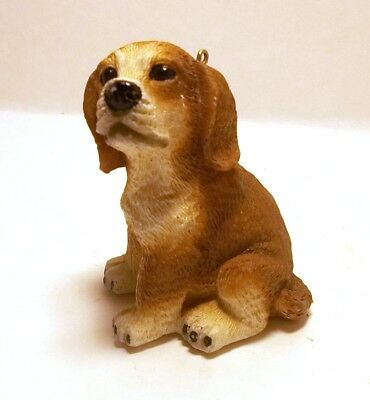 Beagle Christmas Ornament Dog Pet Hound Brown Tan White Heavy Figurine