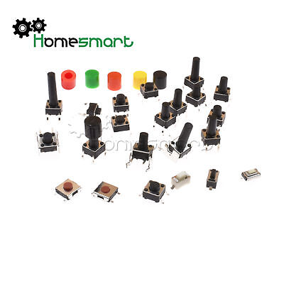 Momentary Touch Push Switch SMD/DIP-2/4/5p 3X6X2.5mm-6X6X17mm Right Angle AHS