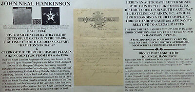 CIVIL WAR CONFEDERATE 1st SOUTH CAROLINA CALVARY HAMPTON'S BRIGADE LETTER  SIGNED