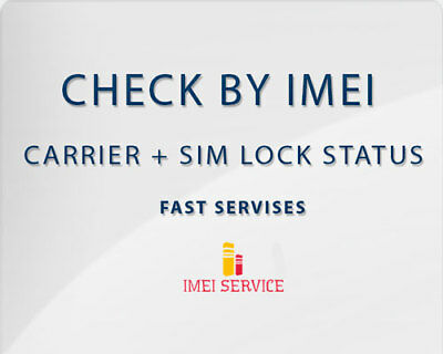 Apple iPhone + iPad Simlock status + carrier Network + Warranty by IMEI Instant