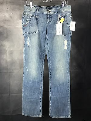 Guess Low Rise Slim Fit Bootcut Women Jeans Sz 29 X 33 Glass Vtg Wash Nwt