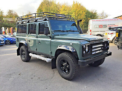 1993 Land Rover Defender County Station Wagon 93 LANDROVER DEFENDER 110 200TDi CSW TOTAL STRIP CHASSIS UP REBUILD KESWICK GREE