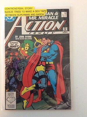 Action Comics #593- Controversial, Sleeze tries to make a sex tape, Fair cond