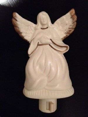 **NEW** Porcelain ANGEL NIght Light with Gold Accents(FREE SHIPPING)